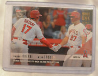 2018 Topps Now Moment of the Week Gold Winner #24 Shohei Ohtani & Trout MOW-24W