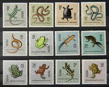 - Polen Poland 1963 Mi. Nr. 1393-1404 ** postfrisch MNH Reptilien und Amphibien