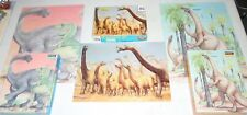100% Complete ! Lot of 3 Dinosaur Puzzles 200 Piece Brontosaurus Dino Allosaurus