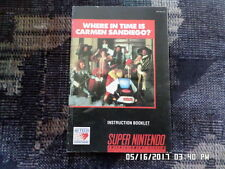 Where In Time Is Carmen San Diego? (SNES Super Nintendo) Manual Only... NO GAME