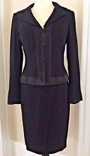 Vintage Nanette Lepore Black Jacket & Skirt Set ~ Women's Suit Size 6 ~ Feminine