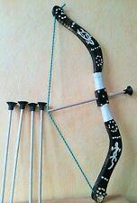 Arc et 5  fleches en  bois  taille 75 cm (jeux jouet enfant) (artisan createur)