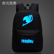 Anime Cartoon FAIRY TAIL Luminous Student Schoolbag Backpack Travel Bag Rucksack