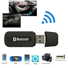 USB Bluetooth Stereo Audio Music Wireless Speaker For Car Receiver Adapter Black