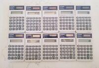 Set Of 10 Casio HS-10 Solar Calculators
