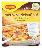 Maggi fix und frisch für Puten Nudel Auflauf mit Paprika 42g