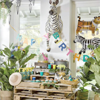 PARTY ANIMALS GARLAND - JUNGLE PARTY - Birthday, Backdrop, Go Wild! , Tropical