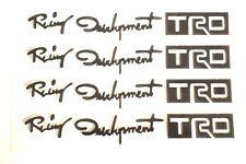 4 pcs Black Racing Development TRD Car Door Handle Sticker Decal US Seller