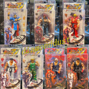 Street Fighter IV Ryu Ken Guile Akuma Action Figure Kid Toy Video Game Figurines