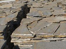 Polygonalplatten,Bruchplatten,Quarzit,Natursteinplatten,flussbraun 2-3cm