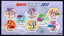 Curaçao 2012 Sport Sports pictogrammes Cyclisme voiles nager bloc ** Neuf sans charnière