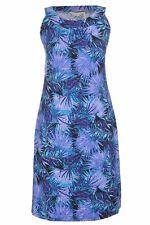 Stunning Turqoiuse Blue purple SEQUIN palm Print dinner Party DRESS stretchy 20
