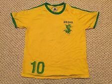 Sepultura Soccer T-Shirt M Medium Brasil 10 Yellow Green Ringer Soulfly futbol