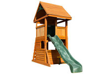 Rendle Fort Climbing Frame With Slide and Rock Wall