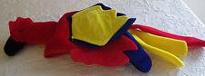 "Cockatoo Bird Halloween Costume Hat Red Yellow Blue 8.5"" Diameter 16"" Tall"
