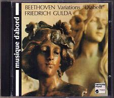 Friedrich GULDA: BEETHOVEN Diabelli Variations CD 1988 Variationen