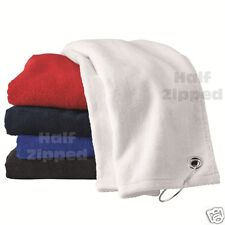 12 Carmel Towel Golf Velour Hemmed Terry Towel with Corner Grommet & Hook 1518GH
