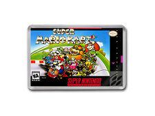Súper Mario Kart Super Nintendo SNES JUEGO CUBIERTA Arte Imán de Nevera