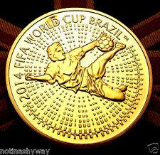 Russian FIFA Gold Coin World Cup 2014 Brasil Medal Footballer Soccer CCCP USSR