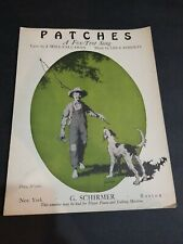 VINTAGE SHEET MUSIC 1919 PATCHES A FOX TROT SONG BEAUTIFUL COVER ORIGINAL