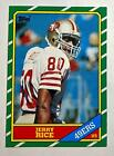 Jerry Rice 1986 Topps Football Rookie Card RC 161 49ERS HOF