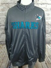 NHL Mens Jacket Size 4XT 4X Tall San Jose Sharks Sewn Patches  (m-23)