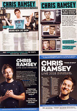 CHRIS RAMSEY TOUR FLYERS X 4 - 2018 & 2013/14 - COMEDIAN COMEDY