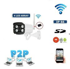 IP CAMERA P2P TELECAMERA WIRELESS WIFI IR INFRAROSSI IPCAM PER ESTERNO SD