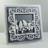 Square Frame Metal Cutting Dies Stencil DIY Card Making Scrapbooking Album Paper