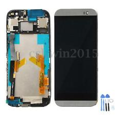 For HTC One M8 LCD Display Replace Touch Screen Digitizer+Frame Assembly+Tools