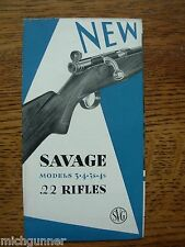 Vintage Savage .22 Rifles Brochure No.60