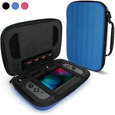 Blue 'Elite' EVA Hard Travel Case Cover for Nintendo Switch + Carry Handle