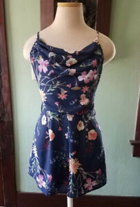 Contemporary Navy Floral Playsuit