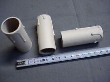 1 fausse bougie fourreau 24 x 65 mm gouttes blanc antique en carton (réf L65)