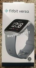 FitBit Versa Tracker/Smart Gray Silver Alum Watch Small Large Bands Included NEW