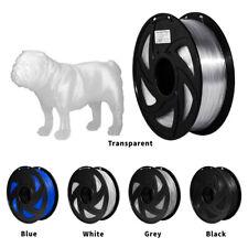 More details for 3d printer 1.75mm petg filament 1kg 2.2lb black white gray roll blue colours pla
