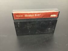 Sega Master System Maze Hunter 3-D Game NO CASE NO MANUAL