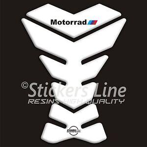 Paraserbatoio adesivo resinato BMW Motorrad All White adesivi serbatoio 3D  B#25