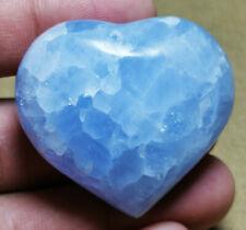 Natural Polished Blue Celestite Crystal Sphere heart Healing