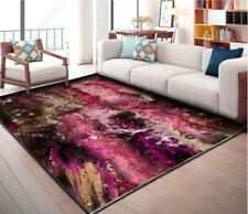 3D Watercolor Pink Non-Slip Rug Door Shower Play Mat Hearth Floor Carpet 403