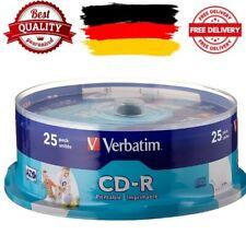 Verbatim CD-R Audio CD Rohlinge Beschreibbar 700 MB 25er Pack Spindel