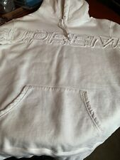 SUPREMELogo Hooded Sweatshirt - White hoodie  Size L 100% Authentic