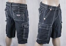 True Religion brand ISAAC natural big T cargo shorts faded black MEG841EH