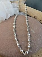 """Vintage Silver Tone Signed Napier Ball Bead Chain 16"""" Necklace  #183"""