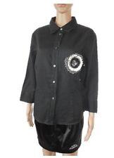 Marc O Polo Designer Women's Vtg Black Linen Casual look Shirt sz 18 2XL AC4