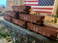 HO Scale Walthers USRA 55 Ton 2 bay Hopper (6) pack Santa FE NEW 932-971 nice !