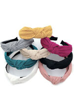 Do Everything in Love Boutique Women Solid Crinkled Knotted Headband Headwrap