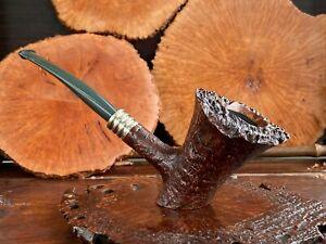 HS Studio Briar wood craft pipe---Unsmoked