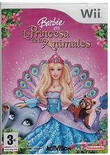 Nintendo Wii PAL version Barbie la princesa de los animales