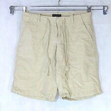 Banana Republic Linen Bermuda Walking Shorts Women Size 0 Tan Pockets Drawstring